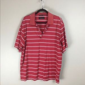 Greg Norman golf mens red polo shirt L